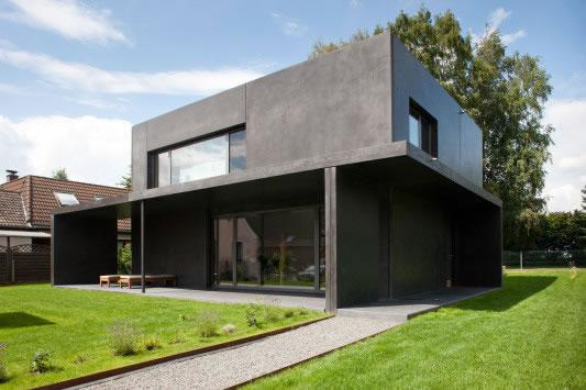 Kleines schwarzes aus beton - Beton architektur ...