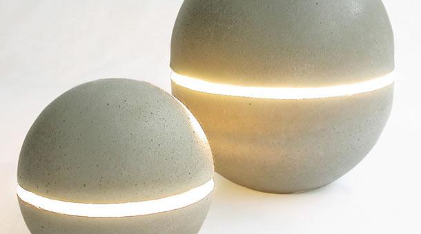 Wohnaccessoires aus beton  Leuchte aus Beton: Poetisches Design - Beton.org