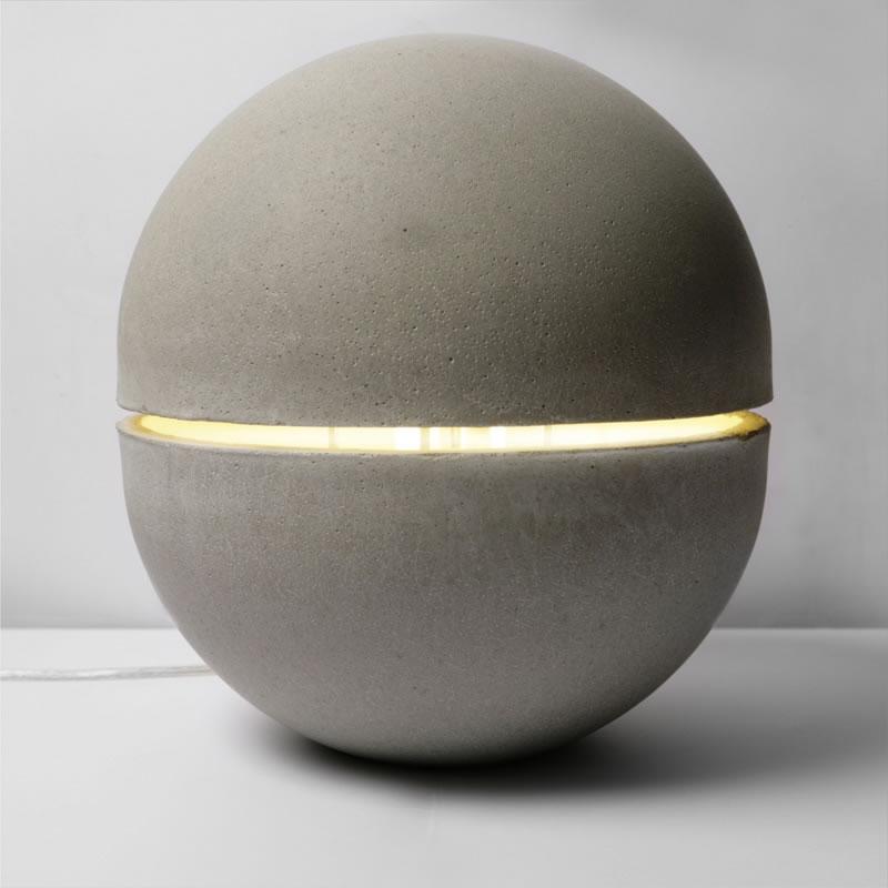leuchte aus beton poetisches design. Black Bedroom Furniture Sets. Home Design Ideas