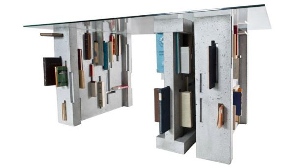 b cher in beton. Black Bedroom Furniture Sets. Home Design Ideas