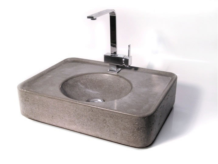 Betonwaschbecken wohnwerte aus beton - Wandgehangtes waschbecken beton trendiges design ...