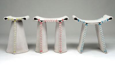 stitching concrete series handgen hte hocker aus beton. Black Bedroom Furniture Sets. Home Design Ideas