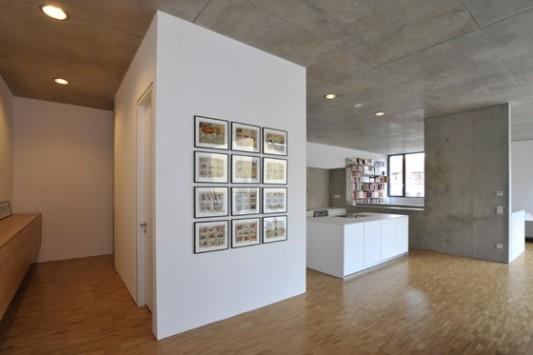 Wohn und gesch ftshaus in mannheim heller glatter sichtbeton aus ortbeton von hoher qualit t - Beton innenwand ...