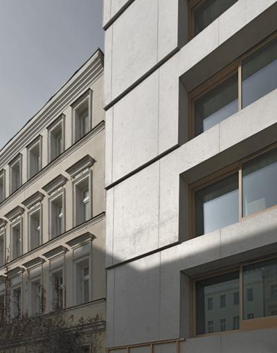 ch39 neubau eines wohnhauses berlin mitte bewohnbarer monolith aus leichtbeton objekte. Black Bedroom Furniture Sets. Home Design Ideas