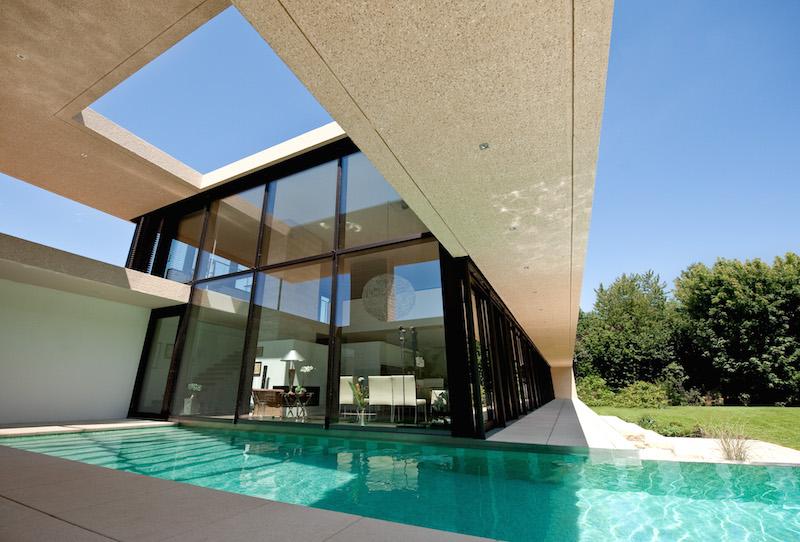 villa am lech haus b in landsberg sch ner wohnen in sichtbeton objekte. Black Bedroom Furniture Sets. Home Design Ideas
