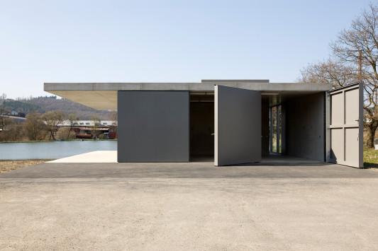 Wasserpavillon in siegen hellgrau schimmerndes angler und privatparkhaus objekte - Architektur siegen ...