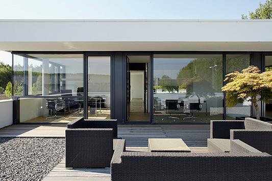Moderne fensterfronten  Bürogebäude in Hagen - Betonbau im Stil der klassischen Moderne ...