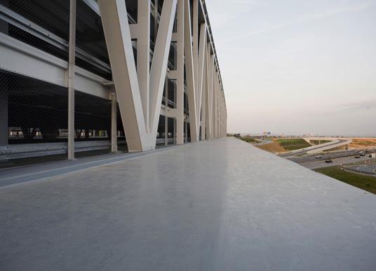 Parkhaus neue messe in stuttgart f cherf rmige for Neue architektur stuttgart