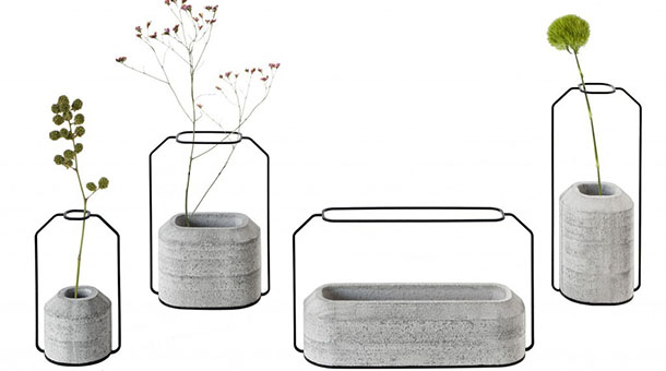 die betonvasen weight vases. Black Bedroom Furniture Sets. Home Design Ideas