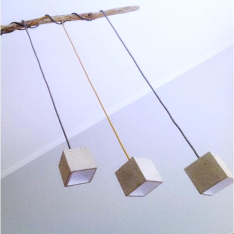 beton cube leuchten aus beton. Black Bedroom Furniture Sets. Home Design Ideas