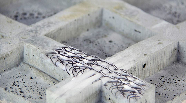 textilbeton leicht tragf hig nachhaltig. Black Bedroom Furniture Sets. Home Design Ideas